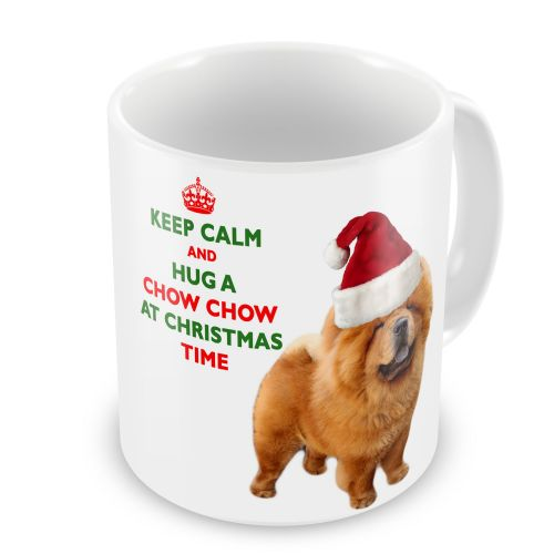 Christmas Keep Calm And Hug A Chow Chow Novelty Gift Mug